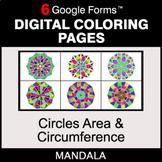 Circles Area & Circumference - Digital Mandala Coloring Pa
