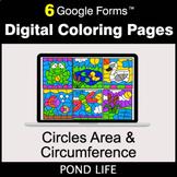 Circles Area & Circumference - Google Forms | Digital Colo