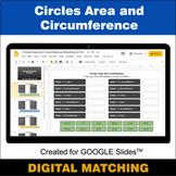 Circles Area & Circumference - Google Slides - Distance Le