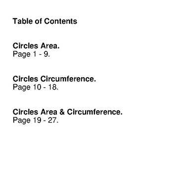 Circles Area & Circumference - Math Mystery Pictures / Color By Number - Pirates