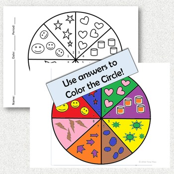 Circles: Area and Circumference Coloring Activity
