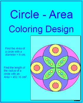 Circles - Area of Circles Coloring Design