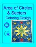 Circles - Area of Circles and Sectors Coloring Activity (10 problems)