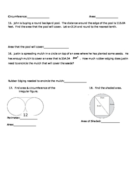 Circles Assessment Not MC
