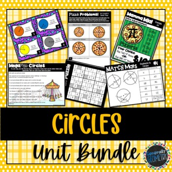 Matching description geometry teaching resources teachers pay circumference circles unit bundle geometry secants tangents area circumference fandeluxe Choice Image