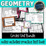 Circles Unit Bundle; Geometry, Secants, Tangents, Area, Circumference