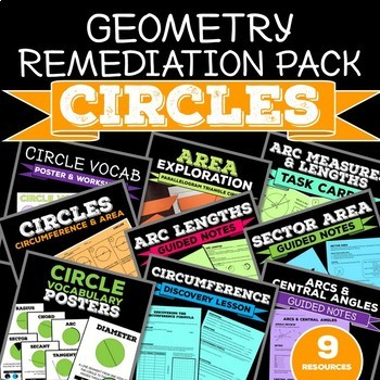 Circles Bundle: Area, Circumference, Sector, Arcs