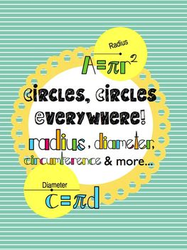 Circles, Circles Everywhere! Radius, Diameter,Circumference, & Area CCSS Aligned