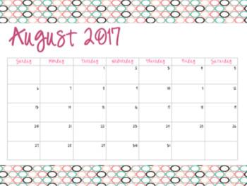 Circles, Circles and More Circles Calendars (2017-2018)
