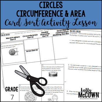 Circles: Circumference & Area Card Sort Activity Lesson