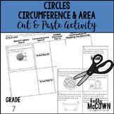 Circles: Circumference & Area Cut & Paste Activity