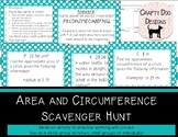 Circles: Circumference & Area Scavenger Hunt
