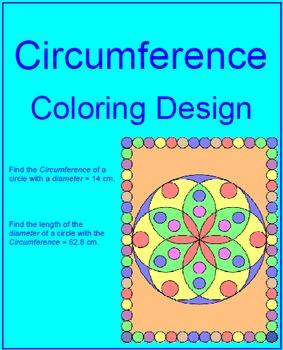 Circles - Circumference Coloring Design