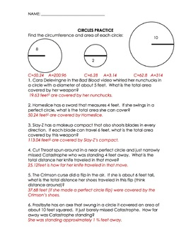 Circles Circumference and Area Song (Taylor Swift Bad Blood) (Song Wrksht Video)