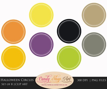 Circles Clip art, Halloween Colors, Label Clipart - Teache