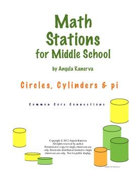 Circles, Cylinders and Pi
