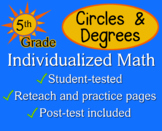 Circles & Degrees, 5th grade - worksheets - Individualized Math