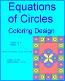 CIRCLES: EQUATIONS OF CIRCLES #2 - COLORING ACTIVITY