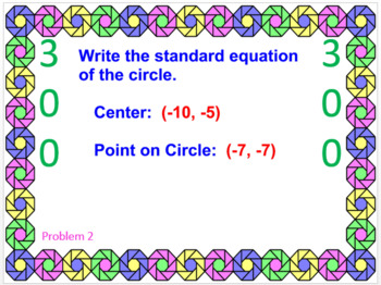 CIRCLES: EQUATIONS OF CIRCLES - POWERPOINT GAME (WIPE OUT!)