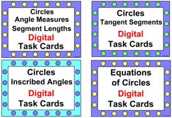 "CIRCLES 4 SETS TASK CARDS: (84 CARDS) ""GOOGLE SLIDES"", POWERPOINT, SMART BOARD"