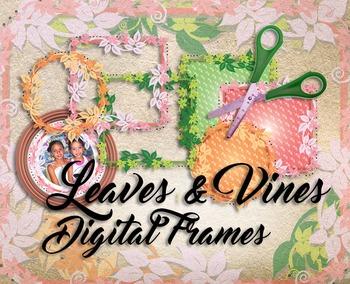 Circles & Frames Clip Art  • 3 Colors, 2 Shapes, 4 Styles  • PNGs & PDF