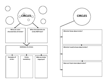 Circles - Graphic Organizer