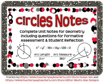 circles guided notes for geometry complete unit by themagicnumber9 rh teacherspayteachers com