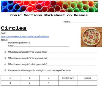 Circles Inquiry Using Desmos