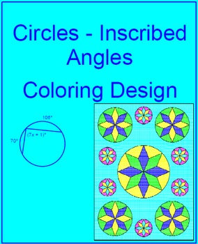 CIRCLES:  INSCRIBED ANGLES - COLORING ACTIVITY (EASY/HARD)