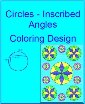 Circles - Inscribed Angles Coloring Design