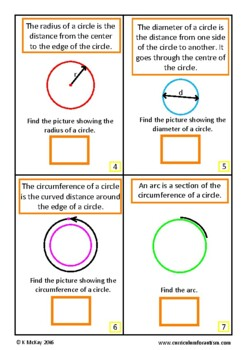 Circles Geometry Interactive Adapted Book, Autism Math, Special Education