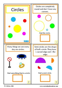 Circles Geometry Book Autism Special Education {UK Spelling}