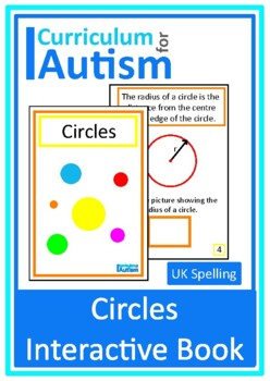 Circles Geometry Interactive Adapted Book, Autism Special