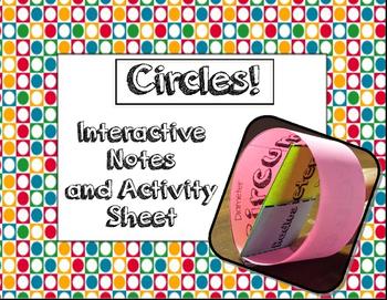 Circles!  Interactive Notes and Activity Sheet