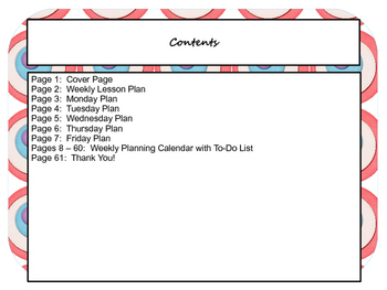 Circles Lesson Plan Template