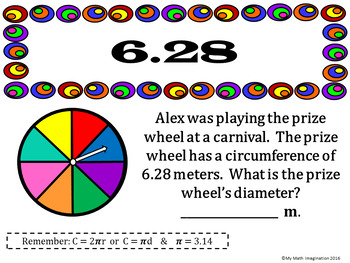 Circles Loop Game - Area, Circumference, Radius, Diameter, Formulas