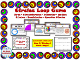 Circles Loop Game - Area, Circumference, Radius, Diameter, Formulas