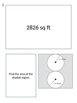 Circles, Polygons, Inscribed Figures Scavenger Hunt
