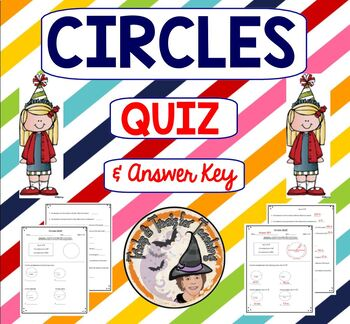Circles radius diameter teaching resources teachers pay teachers circles quiz radius diameter circumference with answer key circle geometry fandeluxe