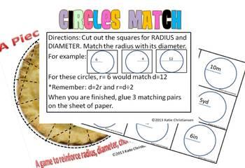 Circles: Radius,Diameter,Arc,Chord,Circumference Pack