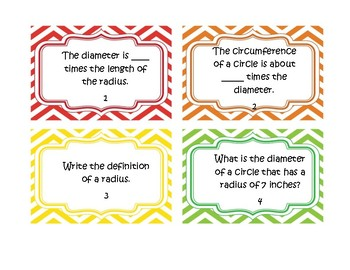 Circles Review Task Cards