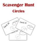 Circles Scavenger Hunt Activity (with tangents, chords, arcs, segments, etc.)