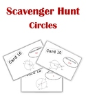 Circles Scavenger Hunt Activity (with tangents, chords, ar