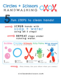 Circles and Scissors Handwashing Bundle (13 pgs) a fun + e
