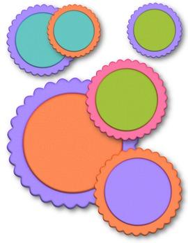 Circles Set #1 Clip Art ~ CU OK ~ Circle Frames ~
