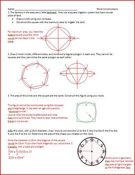 Circles (Sim, Diam v Circum, Complete Square, Constructions) (WS)
