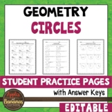 Circles - Student Practice Pages