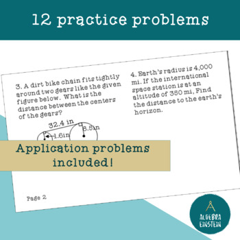 Circles - Tangent Lines Theorems Foldable