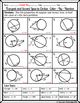 Circles - Tangent and Secant Lines in Circles Color-By-Num