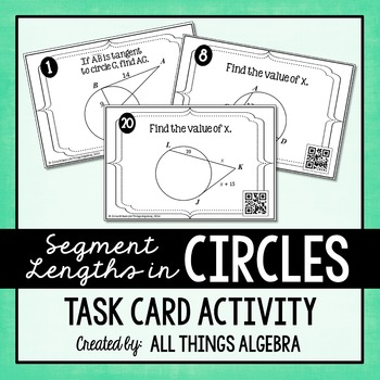 Segment Lengths in Circles (Chords, Secants, and Tangents)